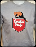 Canadian Pacific 1950's Beaver Shield T-shirt Casual Ts Apparel and Souvenirs