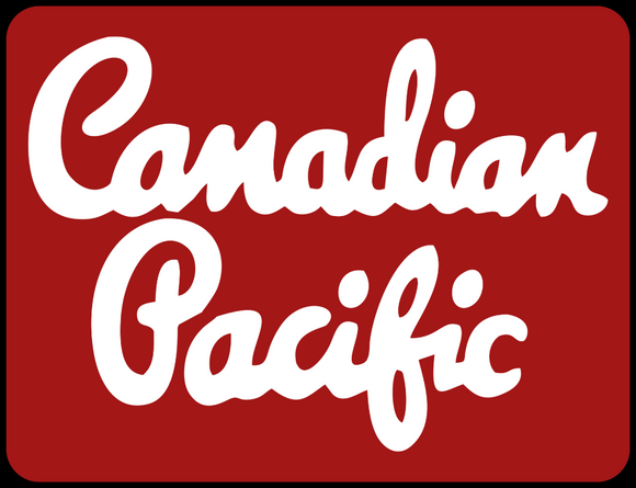 Canadian Pacific 1950's Script lettering Maroon Logo Casual Ts Apparel and Souvenirs