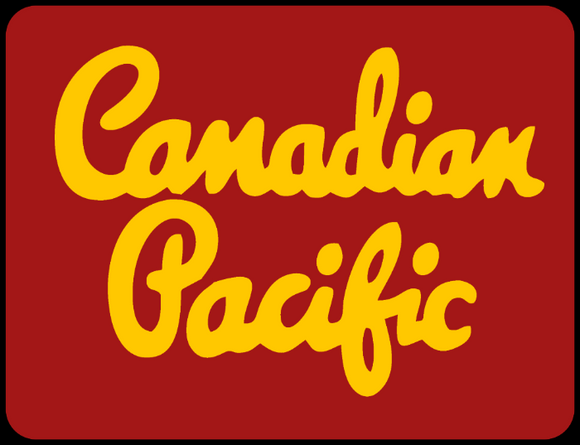 Canadian Pacific 1950's Script Gold Lettering Logo Maroon Casual Ts Apparel and Souvenirs