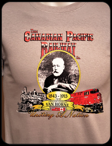 Canadian_Pacific_Building_A_Nation_Grey_Graphic_T-shirt_Casual_Ts_Apparel_and_Souvenirs