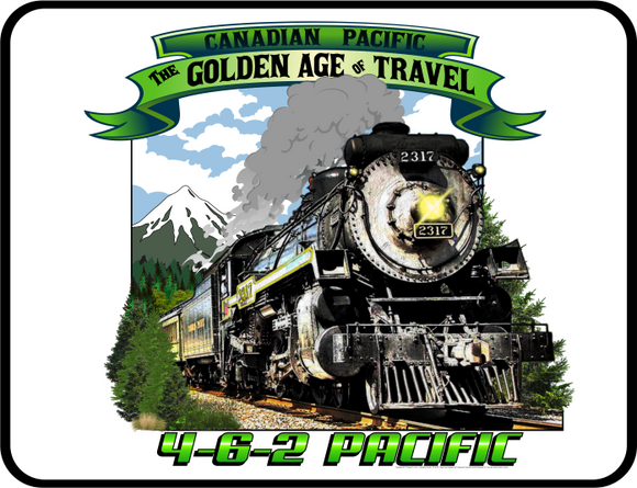Canadian Pacific Golden Age of Travel graphic logo Casual Ts Apparel and Souvenirs