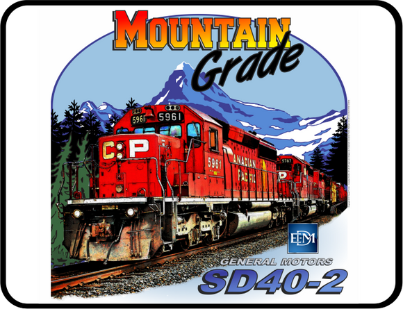 Mountain Grade CP EMD SD40-2 Canadian Pacific General Motors EMD SD40-2 Locomotive Graphic Logo Casual Ts Apparel and Souvenirs