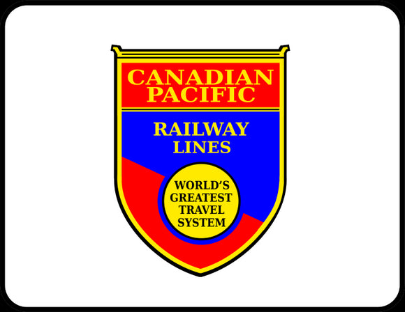Canadian Pacific Railway Lines World's Greatest Travel System logo Casual Ts Apparel and Souvenirs