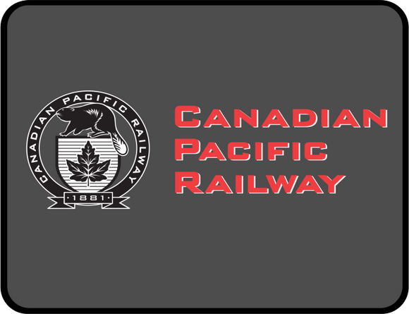 Canadian Pacific Railway 1881 w Beaver Graphic Logo Casual Ts Apparel and Souvenirs