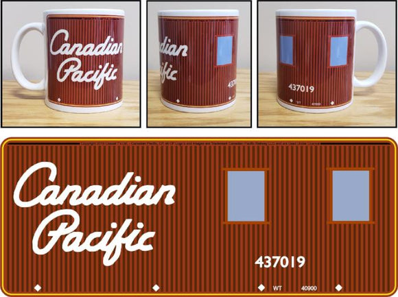 Canadian_Pacific_Script_Lettering_Caboose_Graphic_Ceramic_Mug_Casual_Ts_Apparel_and_Souvenirs