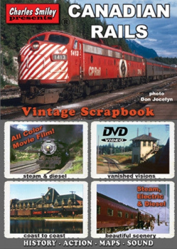Canadian Rails Vintage Scrapbook DVD Casual Ts Apparel D-134