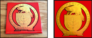 Canadian_Pacific_Golden_Beaver_Shield_Ceramic_Tile_Casual_Ts_Apparel_and_Souvenirs
