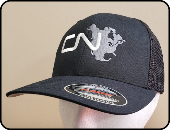 CN North America Flexfit Truckers Mesh Black Cap Casual Ts Apparel and Souvenirs
