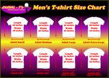 Men's T-shirt Size Chart Casual Ts Apparel