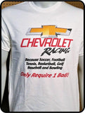 Chevrolet Racing - 1 Ball Graphic Men's T-shirt Casual Ts Apparel and Souvenirs