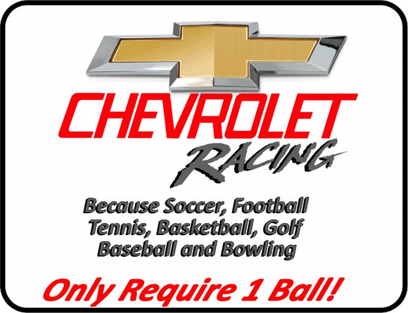 Chevrolet Racing - 1 Ball Graphic Logo Casual Ts Apparel and Souvenirs