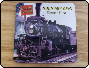 Canadian National - 2-8-2 Mikado Graphic Coaster Casual Ts Apparel and Souvenirs