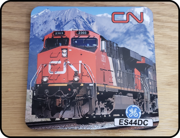 Canadian National ES44DC Locomotive Coaster Casual Ts Apparel and Souvenirs