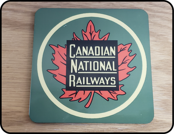 Canadian National Maple Leaf Tender Herald Coaster Casual Ts Apparel and Souvenirs