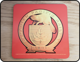 Canadian Pacific Golden 1881 Beaver Shield Logo Coaster Casual Ts Apparel and Souvenirs