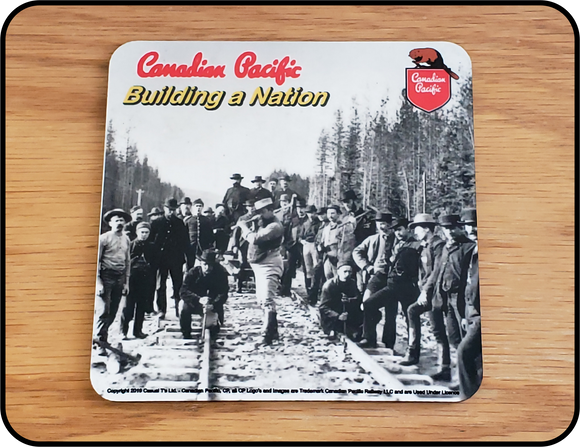 Canadian Pacific Railway Building a Nation Table Coaster Casual Ts Apparel and Souvenirs