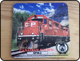 Canadian Pacific GP38-2 Locomotive Coaster Casual Ts Apparel and Souvenirs