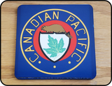 Table Coaster Canadian Pacific Early Beaver Logo Casual Ts Apparel and Souvenirs