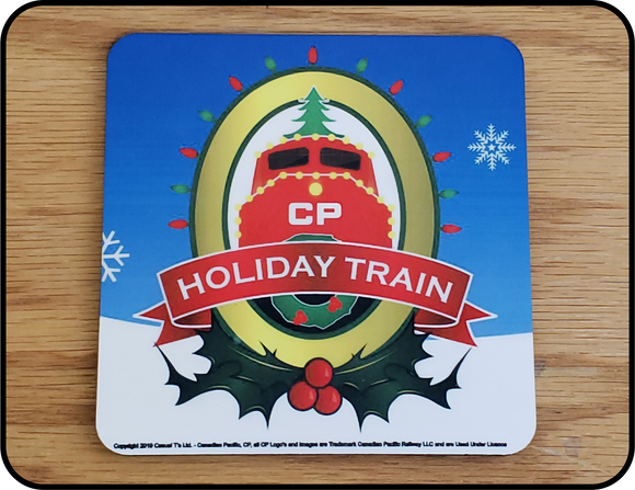 Canadian Pacific Holiday Train Logo Table Coaster Casual Ts Apparel and Souvenirs