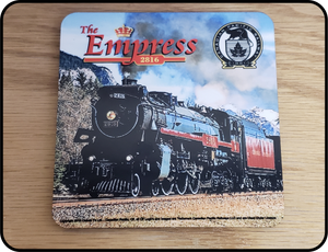 Canadian Pacific 4-6-2 H1b Hudson 2816 The Empress Steam Locomotive Coaster Casual Ts Apparel and Souvenirs