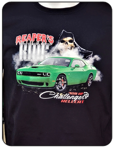 Challenger Hellcat Reapers Ride Logo Casual Ts Apparel and Souvenirs