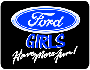 Ford Girls Have More Fun Black Graphic T-shirt Casual Ts Apparel and Souvenirs