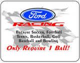 Ford Racing Only Require One Ball Graphic Logo Casual Ts Apparel and Souvenirs