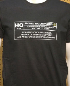 HO scale Model Railroading Rating Graphic Logo Casual Ts Apparel and Souvenirs