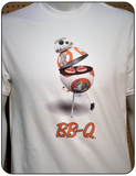 BB-8 as a BB-Q T-shirt Casual Ts Apparel and Souvenirs