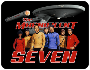 Magnificent Seven Black Graphic Logo Sci-fi Star Trek Casual Ts Apparel and Souvenirs