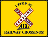 I Stop At All Railway Crossings Cross-buck Logo Casual Ts Apparel and Souvenirs