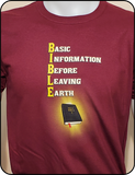 Inspirational Basic Bible Maroon Graphic T-shirt Casual Ts Apparel and Souvenirs