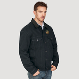 Canadian National Round Herald Fleece-Lined Denim Jacket Casual Ts Apparel and Souvenirs