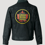 Canadian National Round Herald Fleece-Lined Denim Jacket back Casual Ts Apparel and Souvenirs