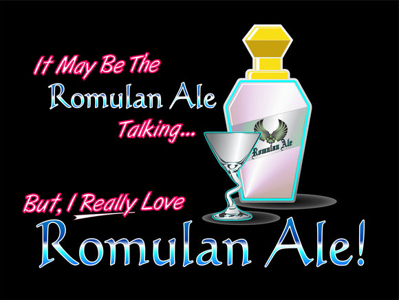Love Romulan Ale graphic Logo Casual Ts Apparel and Souvenirs