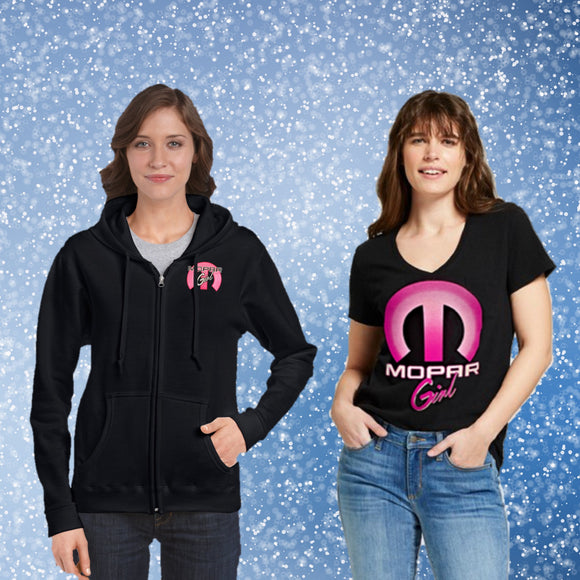 Mopar Girl, Ladies T-shirt and Hoodie Combo