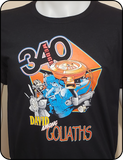 340 Wedge David Among Goliaths Black Graphic T-shirt Casual Ts Apparel and Souvenirs
