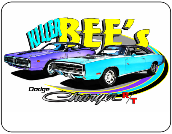 Killer Bees Dodge Charger R/T Logo Casual Ts Apparel and Souvenirs