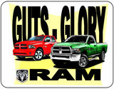 Guts Glory Ram Dodge Logo Casual Ts Apparel and Souvenirs