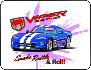 Mopar Viper Snake Rattle and Roll Graphic T-shirt Casual Ts Apparel and Souvenirs