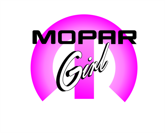New Pocket Print - Mopar Girl - Graphic Logo Car Truck Automobile Casual Ts Apparel and Souvenirs