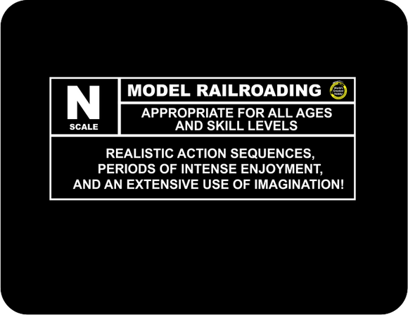 N scale Model Railroading Rating Graphic Logo T-Shirt Casual Ts Apparel and Souvenirs