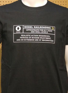 O scale Model Railroading Rating Graphic Logo Casual Ts Apparel and Souvenirs