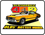 Oldsmobiles 442 Olds Hottest Number Graphic Logo Casual Ts Apparel and Souvenirs