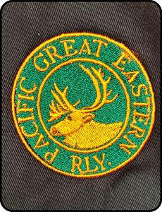 Canadian National Pacific Great Eastern Logo Forest Green Work Shirt Casual Ts Apparel and Souvenirs