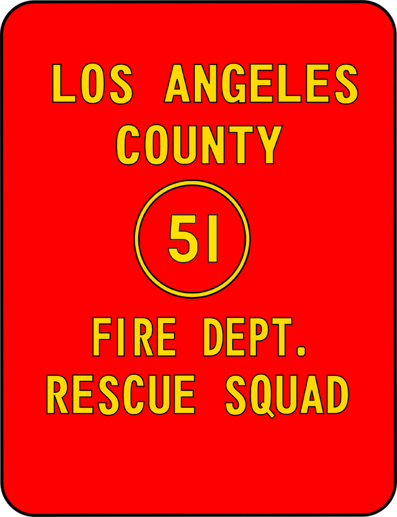 Pop Culture - EMERGENCY Squad 51 Door Art Graphic T-Shirt Casual Ts Apparel and Souvenirs