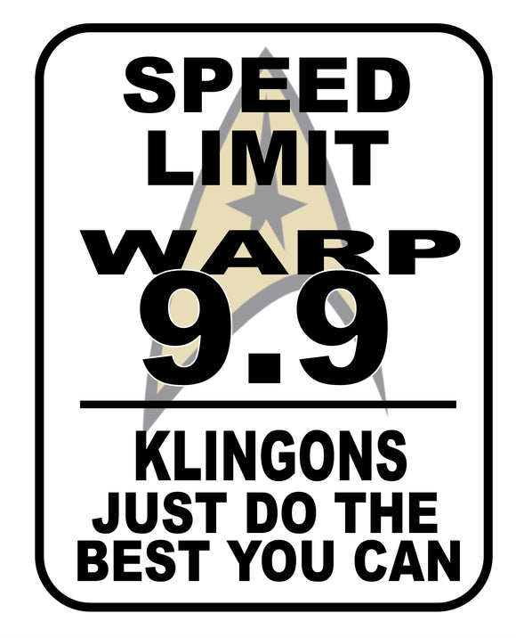 Warp Speed Limit Sign graphic logo Casual Ts Apparel and Souvenirs