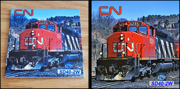 Canadian National EMD SD40-2W Locomotive ceramic tile Casual Ts Apparel and Souvenirs