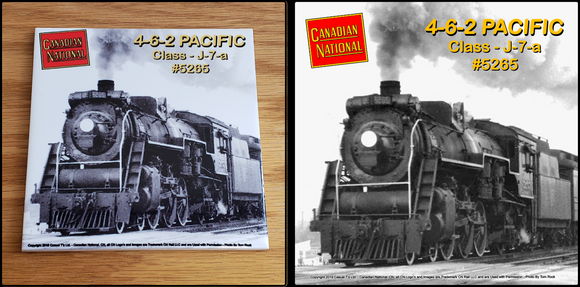 Canadian National 4-6-2 Pacific Locomotive ceramic tile Casual Ts Apparel and Souvenirs