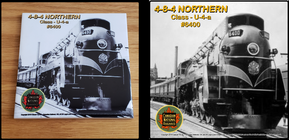 Canadian National 4-8-4 Northern Locomotive ceramic tile Casual Ts Apparel and Souvenirs